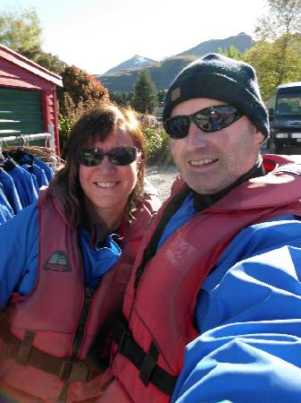 Lilac Rose Boutique Bed and Breakfast: Jet boating on Dart River