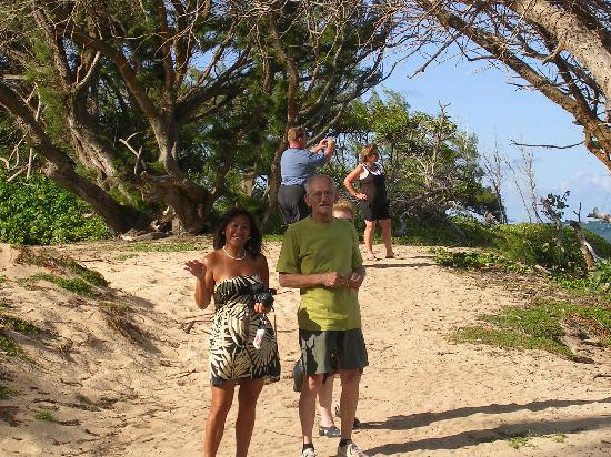 Aloha Private Tours: On the beach with Susie