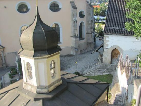 Wasserkapelle: seen from the stairs to the Golgotha