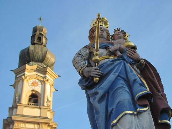Heilig Grabkirche St. Peter und Paul: Our Lady column and belltower