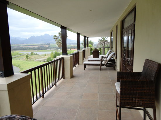 Asara Wine Estate & Hotel: Our private balcony