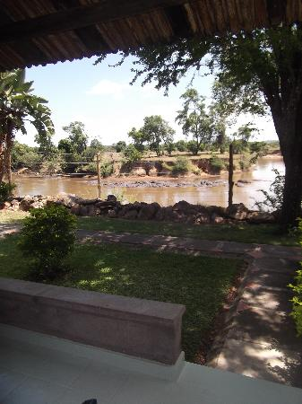 Mara River Lodge: view from our room