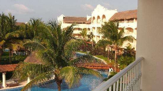 Excellence Riviera Cancun : vue de notre chambre en face du spa