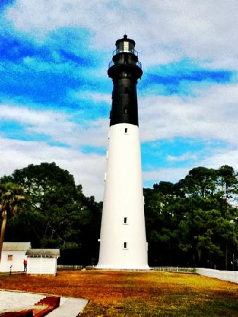 Hunting Island State Park: the light house on Hunting island
