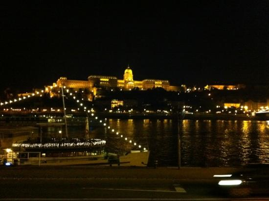 Budapest, Hungary: Castle at night