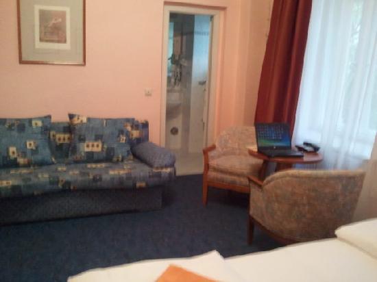 Hotel Castell: Blick vom Bett aus