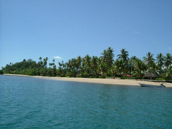 Labasa, Fiji: Looking back at Nukubati from the boat