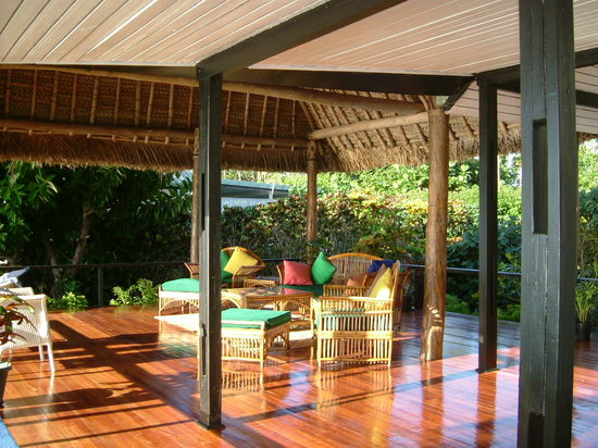 Nukubati Private Island: The large deck for the honeymoon bure