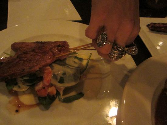 Iron Monkey: beef skewers