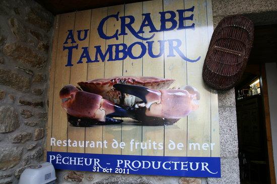 Au Crabe Tambour : L'ENSEIGNE Crabe Tambour Concarneau