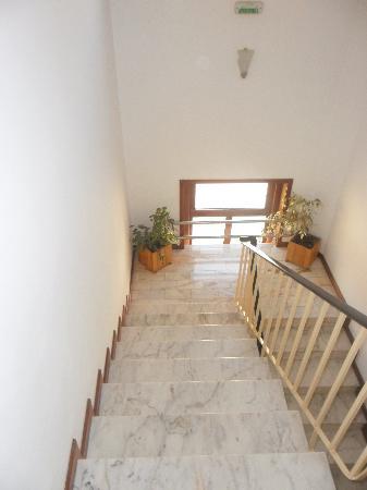 هوتل جراندي ريو: Escalier toujours propre durant notre séjour.