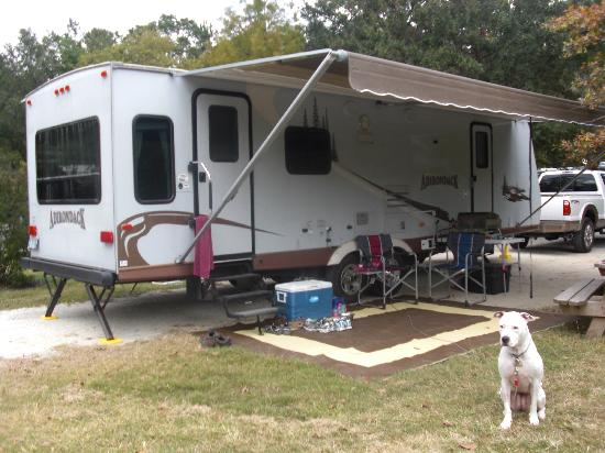 James Island County Park Campground & Cottages: Our campsite - a pull-thru site.