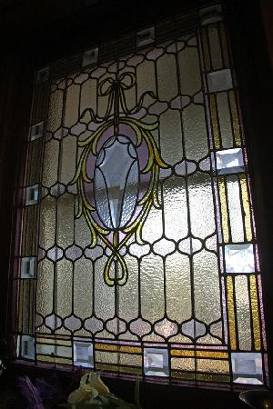 Elmcroft B&B: Stained glass window in Rotunda room