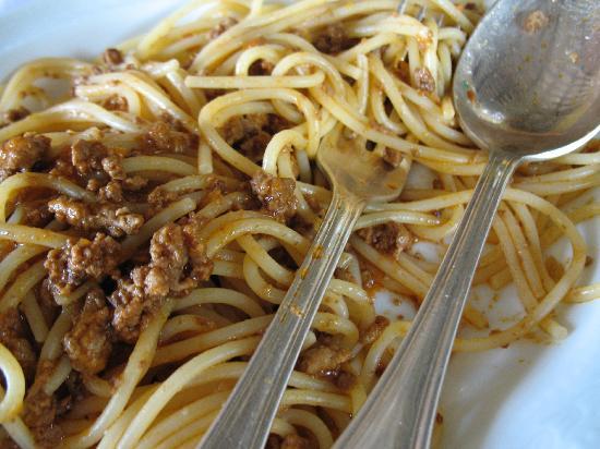Villa Le Barone : Delicious spaghetti we had for lunch