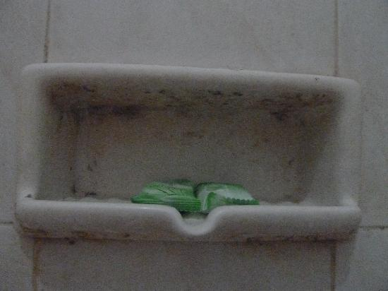 Griya Asri Hotel: Filthy dirty soap dish in bath