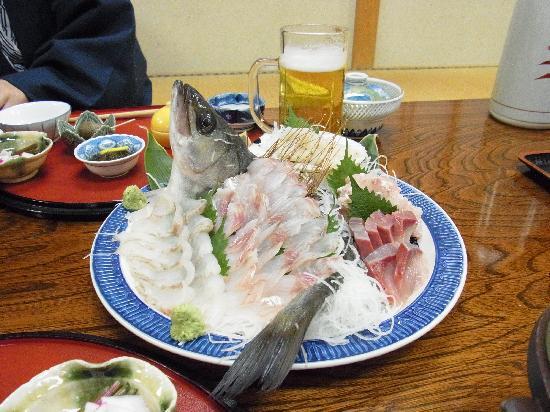 Oku nikko club Yama no yado: 夕食のお刺身