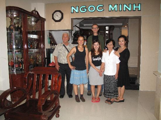 Ngoc Minh Hotel: My family and the owner