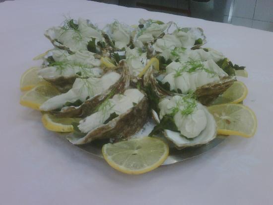 Logis Auberge de l'Omois : sorbet très spécial au huîtres