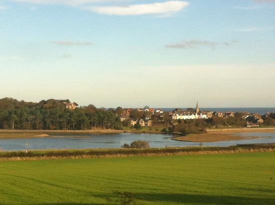 The Sun Inn  Alnmouth  Northumberland: Alnmouth from the train as we arrived