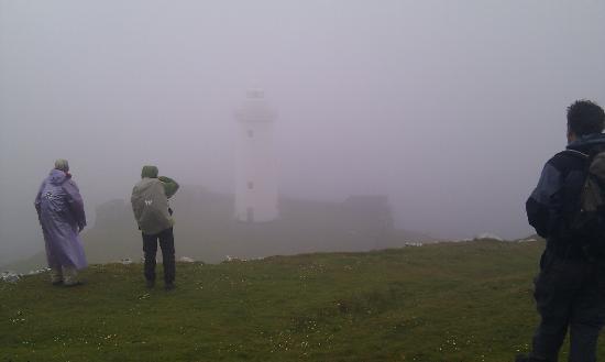 Beara Way: Lighthouse in mist