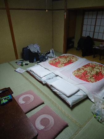 Nihonkan: The single twin bed room.