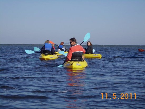Shan-T Native Kayak Tours, Inc.: Cool pic with the Skyway Bridge in the background.
