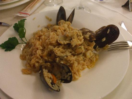 Mediterraneo Palace Hotel : Buonissimo risotto del ristorante!