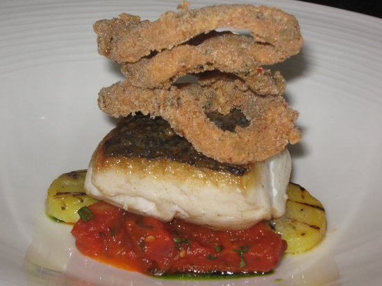 Northcote Restaurant: Delice of hake with spiced squid