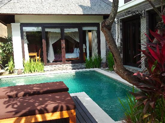 The Sanyas Suite Seminyak: view from entrance