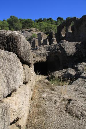 Iglesia Rupestre y Ruinas de Ciudad Umar ibn Hafsun: The ruins of Bobastro Chuch hewn from solid rock!