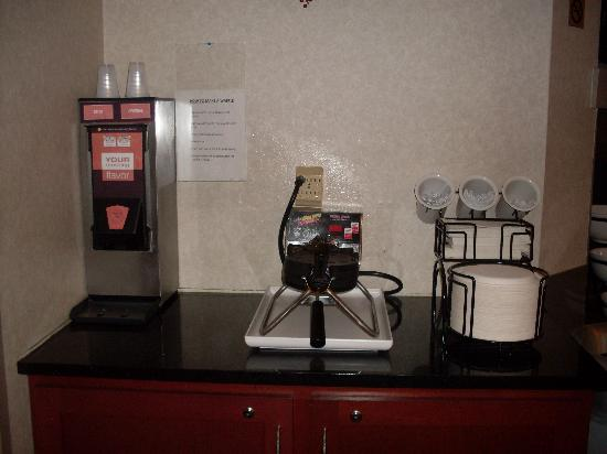Comfort Inn Concord: Make Your Own Waffle Station
