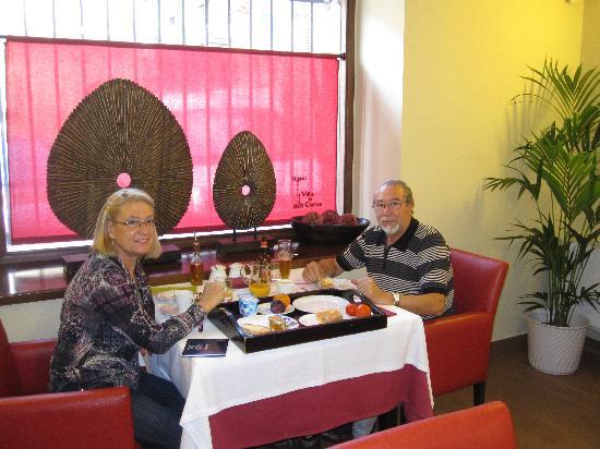 Hotel Villa de Cretas : los desayunos estupendos