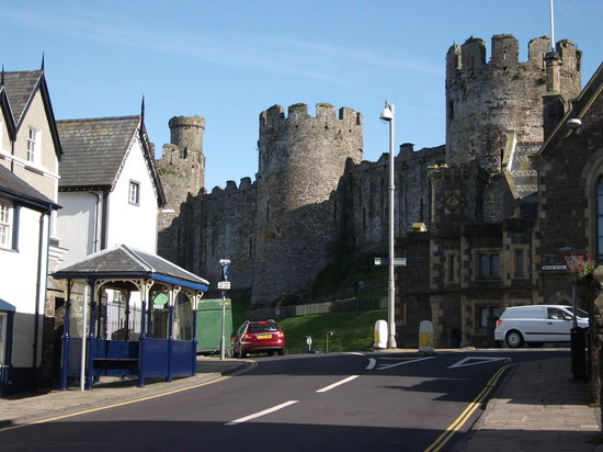 Conwy, UK: Castle and part of town walls