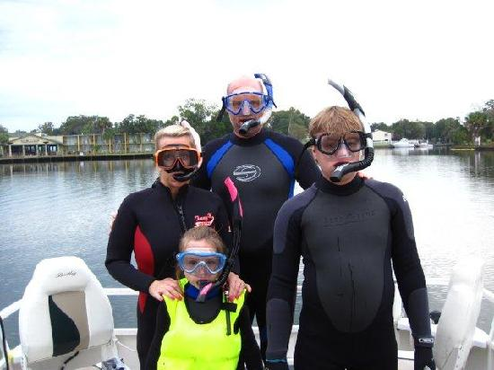 Manatees In Paradise: Ready to go in!