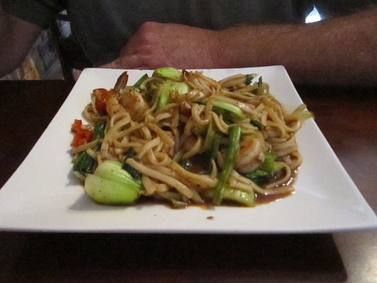 Spring Roll Asian Cuisine: minus the first mouthfuls, a seafood noodle dish