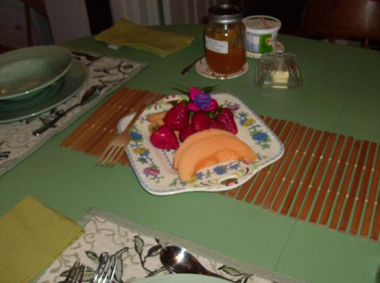 Bee & Bee ~ Bed and Breakfast: Just part of the scrumptious freakfast.