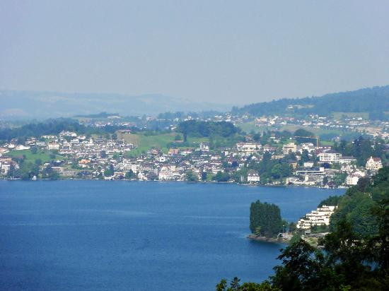 Hotel Rigi: View from the train seeing the Lake