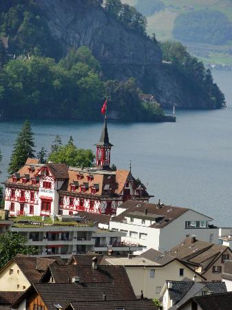 Hotel Rigi: View from the train seeing the Lake Lucerne & Vitznau
