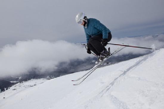 Hood River, OR: Skier Jumps over the Clouds photo by Michael Peterson (2011)