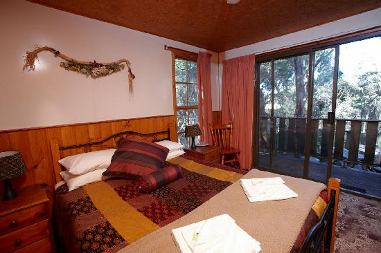 Crayfish Creek Van and Cabin Park and Spa House: Treehouse Bedroom