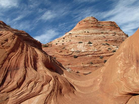 The Wave at Coyote Buttes: One last view of the scenery along the trail as when hiked back from the Wave.