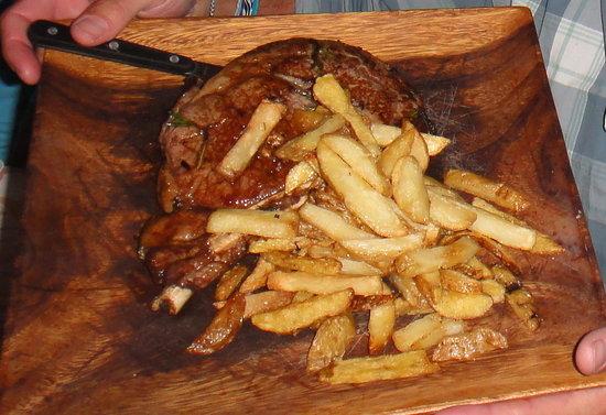 Nebo Lodge: Bone-In steak with Truffle Fries