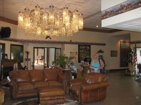Lobby Of The Dodge House Hotel City Ks