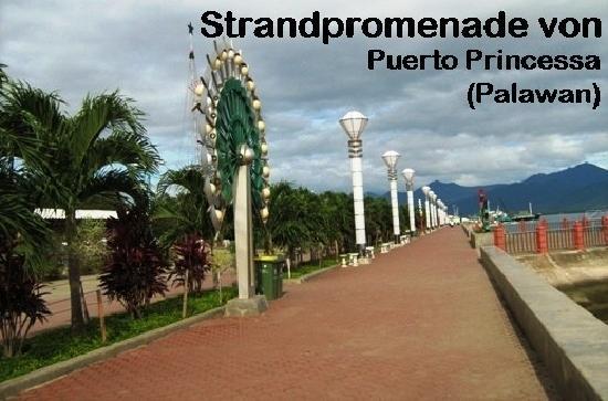 Puerto Pension Inn: Strandpromenade in Puerto Princessa