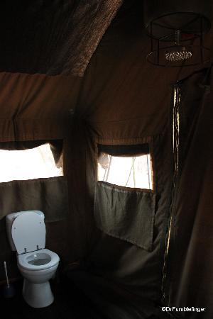 andBeyond Chobe Under Canvas: Imagine: tenting with a flush toilet and hot water shower