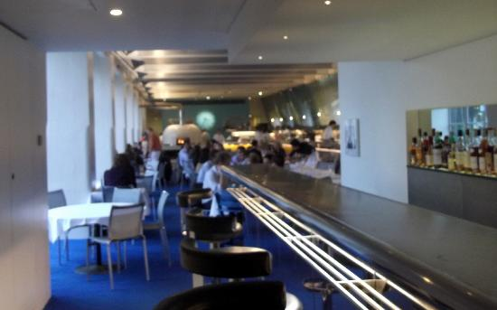 The River Cafe: An out of focus view of the interior-must have been the wine!