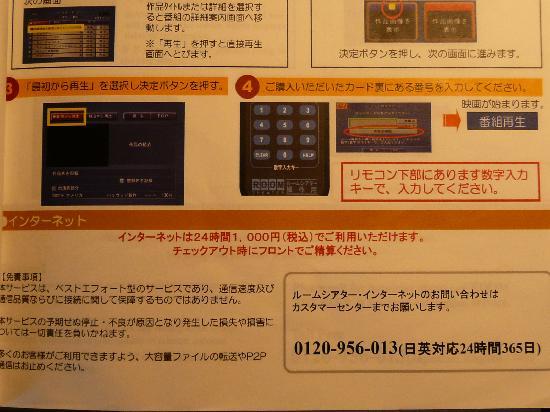 Marroad International Hotel Narita Airport : ネットは有料,1日1000円