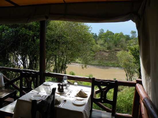 Ashnil Mara Camp: The view for breakfast
