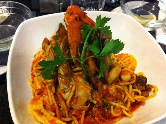 Trevi Fountain Italian Restaurant: spaghetti marinara