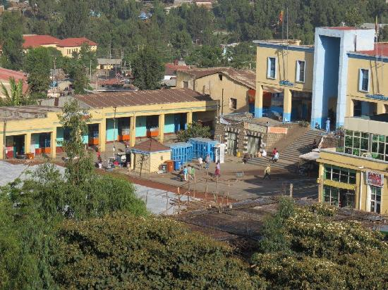 Taye Belay Hotel : Gonder town centre from the Taye hotel